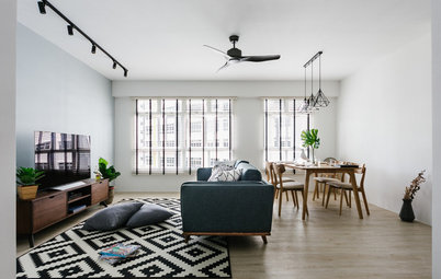 Houzz Tour: Crisp, Urban Comfort in a Five-Room Flat
