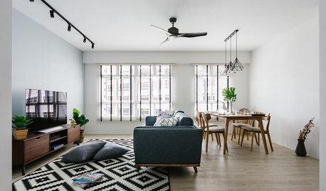 Houzz Tour: Crisp, Urban Comfort in a Five-Room Flat