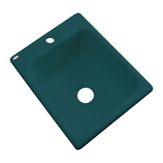 Aberdeen 1-Hole Prep Sink, Teal