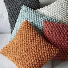 Bubble Knit Pillow Cover Pale Harbor West Elm