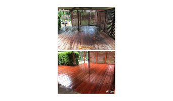 Mr Stanley Red wood deck rebuild and stain