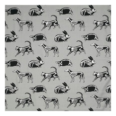 "PaperBoy Interiors ""Animal Magic"" Fabric, Grey and Silver"