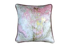 "Gray Decorative Euro shams 26""x26"" Velvet, Splash Marble"