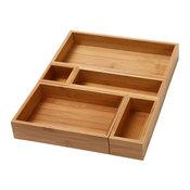 Ybm Home & Kitchen Set of 5 Bamboo Drawer Organizer Boxes