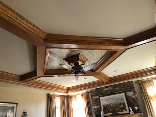 Help Should I Paint My Coffered Ceiling Trim And Molding