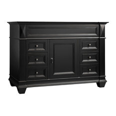 "Ronbow Torino Solid Wood 48"" Vanity Cabinet Base, Antique Black"