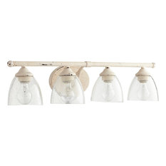 Quorum Brooks 4-Light Vanity, Persian White With Clear Seeded