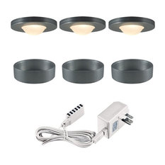 Jesco Lighting KIT-PK503-BA-A Xenon Straight Edged Slim Under Cabinet Disk Kit