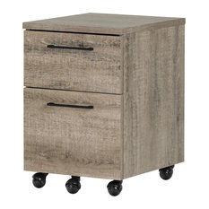 South Shore Furniture   South Shore Munich 2 Drawer Mobile File Cabinet,  Weathered Oak