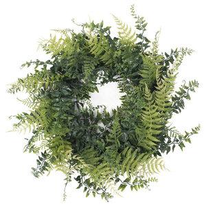 California Greens Holiday Wreath - Farmhouse - Wreaths And