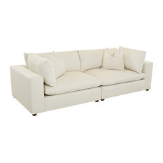 Klaussner Furniture Leeland Modular Sofa, Cream