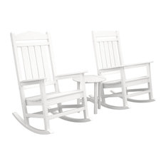 Polywood Presidential 3-Piece Rocker Set, White