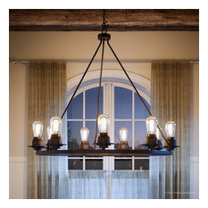 Luxury Industrial Chic Chandelier, Nashville Series, Charcoal