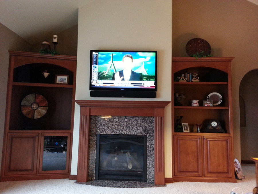 Traditional Living Room Television Installation