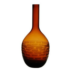 "Amber Bottle Vase. 14"""