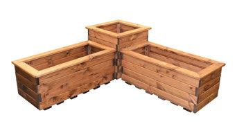 3-Piece Corner Planter Set