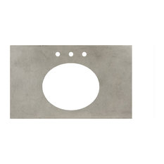 """Native Stone Vanity Top, Oval Sink Cutout with 8"""" Widespread Faucet Holes, Ash,"""