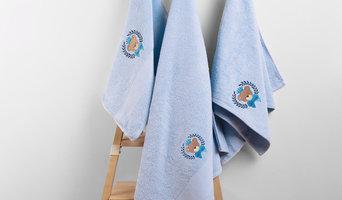 Махровое полотенце с вышивкой
