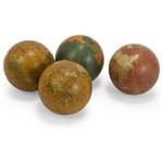 """Imax - Imax 5555-4 Set of 4 Antique Finish Globe 4"""" Spheres Ball Accent - Set of four antique finish globe spheres in assorted colors. 3.8 x 3.8 x 3.8 inches. Thank you for shopping with GwG Outlet! Your business is much appreciated! Our inventory is updated daily so keep checking back for new items!"""