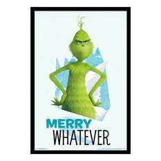 The Grinch Merry Whatever Poster, Black Framed Version