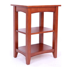 Bolton Furniture, Inc.   Shaker Cottage 2 Shelf End Table, Cherry