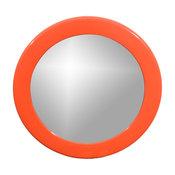 French Round Orange Resin Mirror by Syl