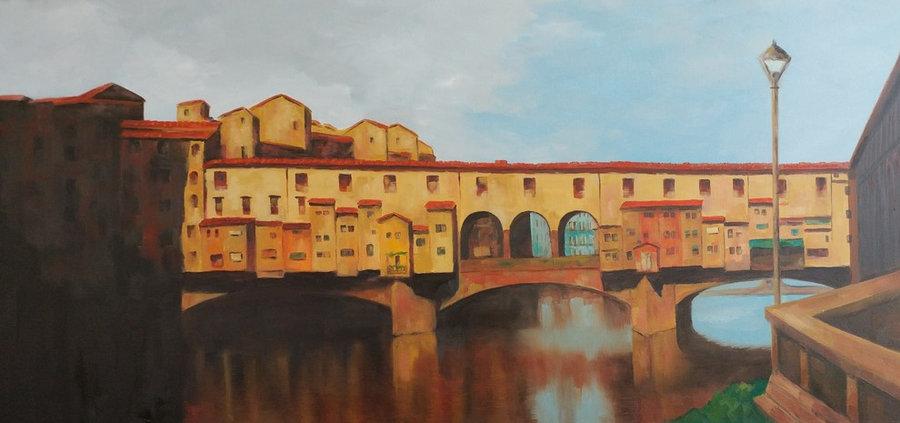 Ponte Vecchio, 24x48, gallery wrap