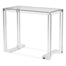 Ava Small Desk/ Console, Clear