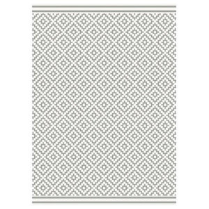 Patio Rectangular Rug, Light Grey, 160x230 cm
