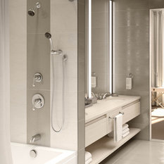 Unity 2-Handle Tub and Shower Faucet With Hand Shower, Chrome