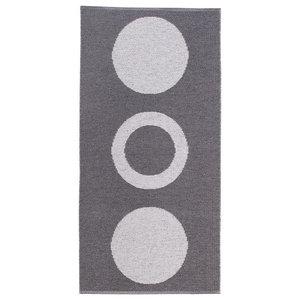 Circle Woven Vinyl Floor Cloth, Grey, 70x200 cm