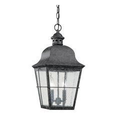 Sea Gull Lighting 2-Light Outdoor Pendant, Oxidized Bronze