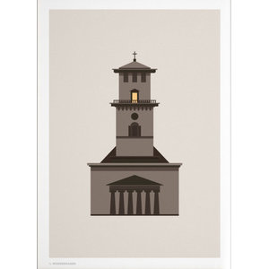 """Church of Our Lady"" Poster, Day, 50x70 cm"