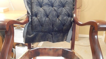 Rocking Chair Restored and Reupholstered
