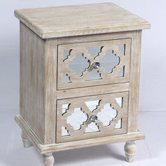 Emerald Home Canterwood 2-Drawer Accent Table, Whitewash