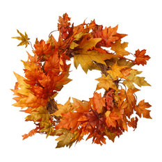 """National Tree Company - 24"""" Maple Leaf Wreath - Wreaths and Garlands"""