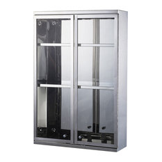 24x16 Stainless Steel Double Door Display Wall Cabinet