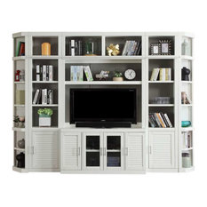 Parker House - Parker House, Catalina Modular 6-Piece Entertainment Wall - Entertainment Centers and Tv Stands