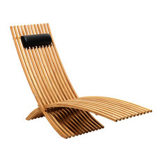 Nozib Outdoor Lounge Chair, Teak
