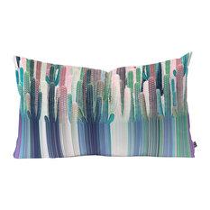 """Iveta Abolina Cacti Stripe Pastel Oblong Throw Pillow, 23""""x14"""""""