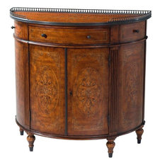 THEODORE ALEXANDER Side Cabinet Louis XVI French Demilune Bowfront