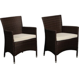 Tropical Outdoor Dining Chairs by International Home Miami Corp