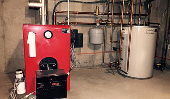 Biasi B-10 oil triple pass boiler with storage tank