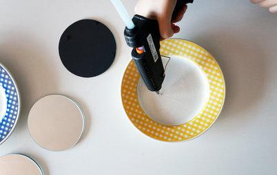 Hazlo tú mismo: Unos espejos decorativos con platos 'vintage'