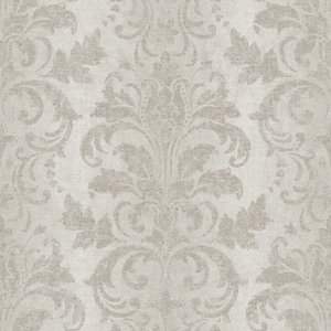 Ombre Damask Wallpaper, Grey