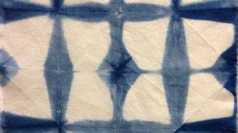 Fabric Tiles - Indigo