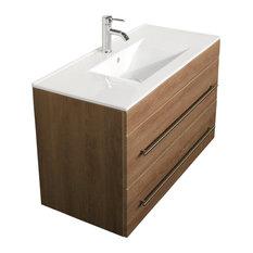 Emotion Infinity 1000 Bathroom Furniture, 100 cm, Light Oak