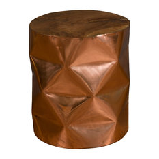 East At Main   East At Mainu0027s Louin Copper Round Copper Accent Table   Side  Tables