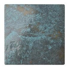 "SomerTile 6""x6"" Ocean Porcelain Floor and Wall Tile, Green River, 30"