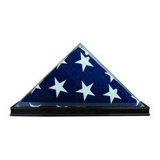 All Glass Flag Display Case 9.5x5, Black